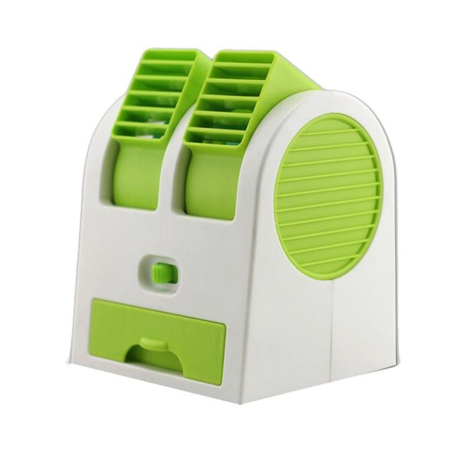 Portable USB Mini Air Conditioner Cooler Fan Dual Air Conditioner