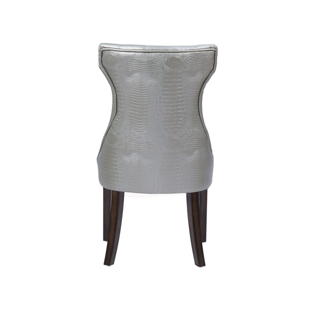 Chic Home Shelley PU Leather Dining Side Chair, Set of 2