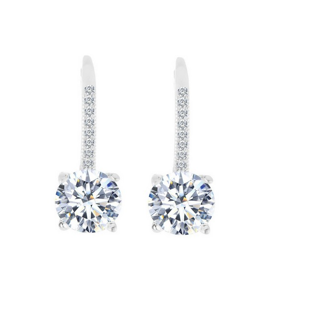 Leverback Earrings Made with Genuine Crystals