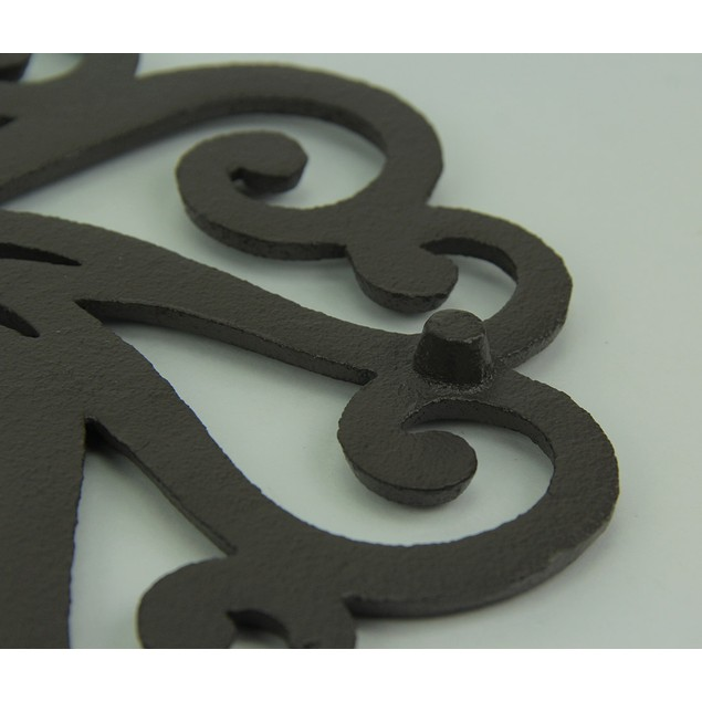 Black Scroll Tail Rooster Cast Iron Trivet Set Of Trivets
