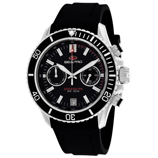 Seapro Men's Thrash Black Dial Watch - SP0330