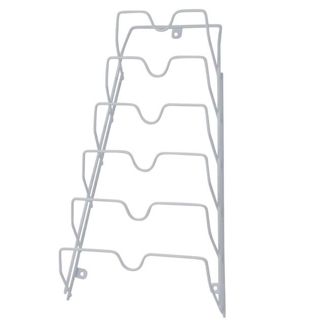 Pot Lid Storage-Cabinet Door/Wall-Organizer-6 Pot/Pan Covers