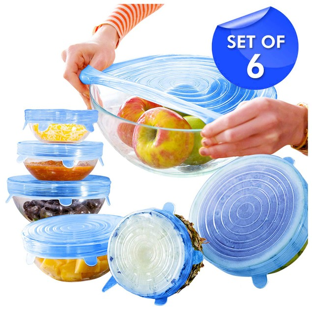 Reusable Silicone 6 Piece Stretch Lids
