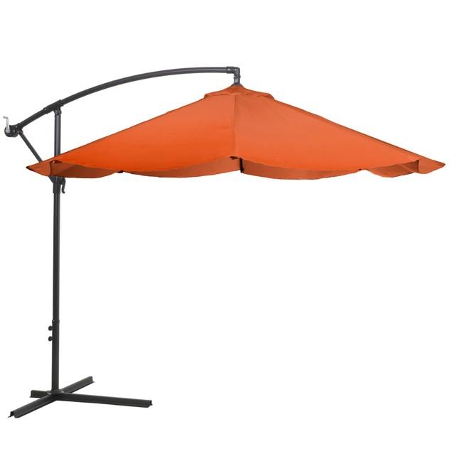 Pure Garden Offset 10-Foot Aluminum Hanging Patio Umbrella