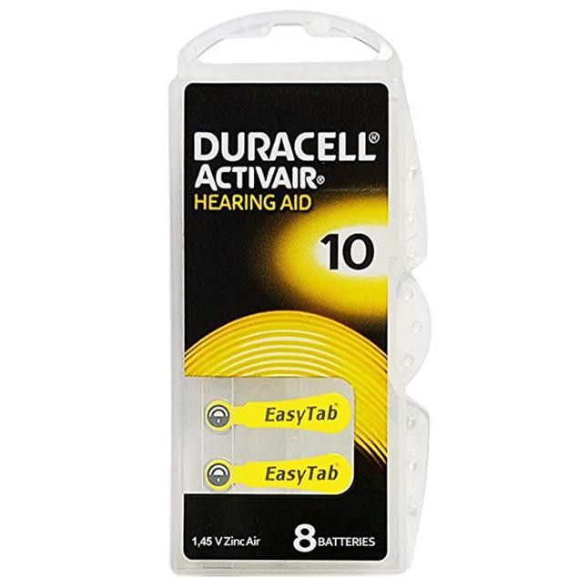 Duracell Activair Size 10 Zinc Air Hearing Aid Batteries (80 pack)