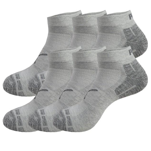 6-Pairs PUMA Low Cut Mens Socks Stay-Up Cuff and Heel Cushioned