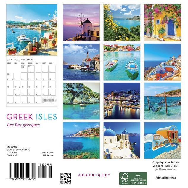 Greek Isles Mini Wall Calendar, More Europe by Calendars