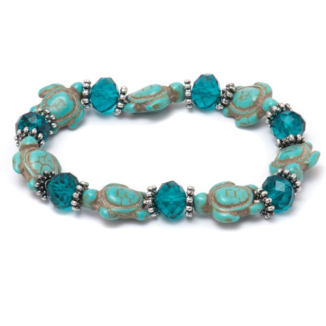Genuine Hawaiian Sea Turtle Bracelet with Turquoise