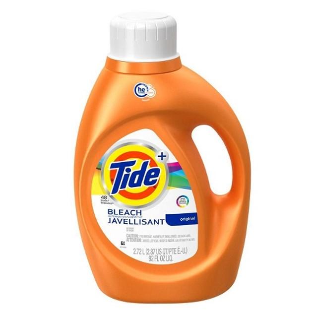 Tide Plus Bleach Original HE Liquid Laundry Detergent 92 oz