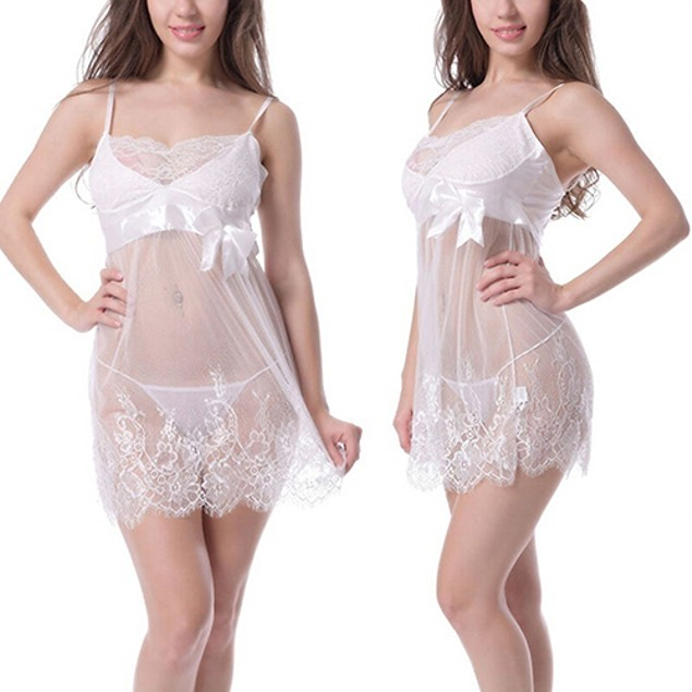 Sexy Lace Lingerie Dress Babydoll Sleepwear