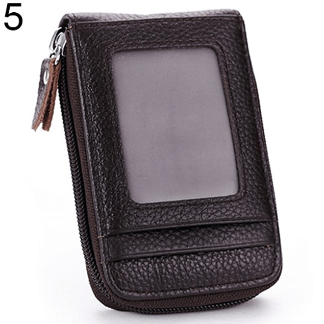 Men's Women's Fashion Mini Faux Leather ID Credit Cards Holder