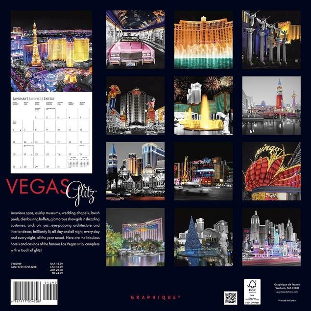 Vegas Glitz Wall Calendar, Las Vegas by Calendars