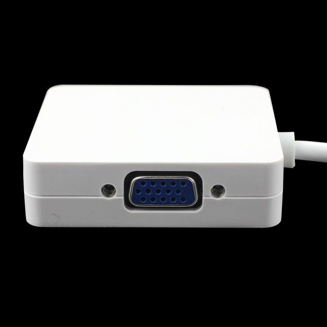 3 in 1 Mini DP Displayport to HDMI DVI VGA Adapter for MacBook Air Pro