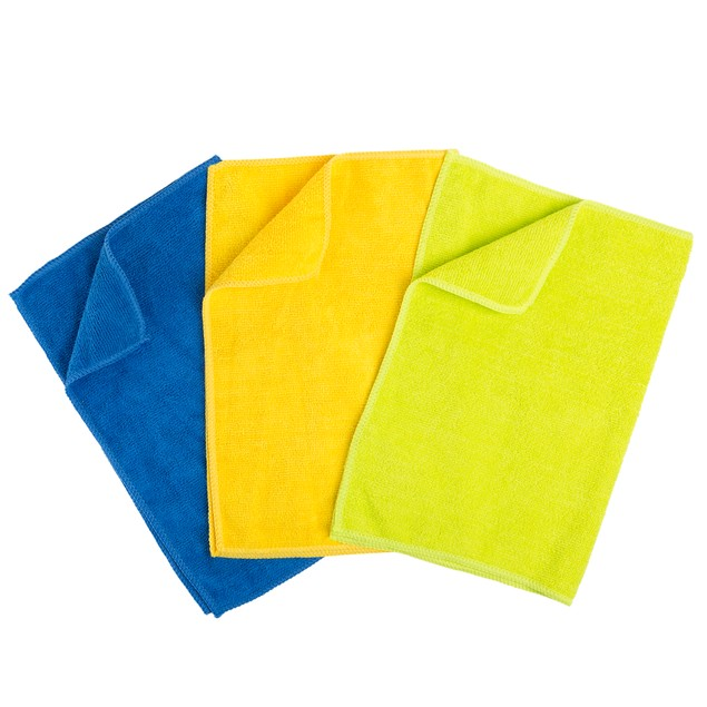 12-Count Microfiber Cloth Cleaning Towels