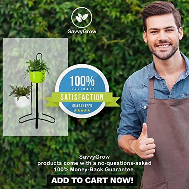 Succulent Hanging Planter Indoor Vase Table Decor (Magnetic Stand & 2 Pots)