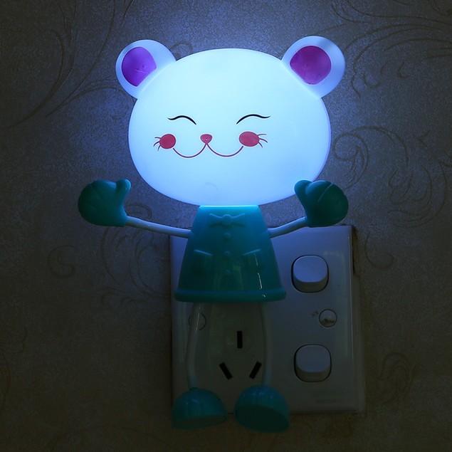 US Plug Cute Cat LED Sensor Control Nightlight