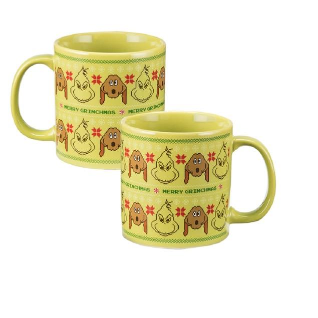 "Dr. Seuss ""The Grinch"" 20 oz. Heat Reactive Ceramic Mug Cartoon Movie"