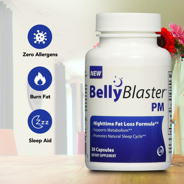 Belly Blaster PM Supplement - Night Time Weight Loss While You Sleep