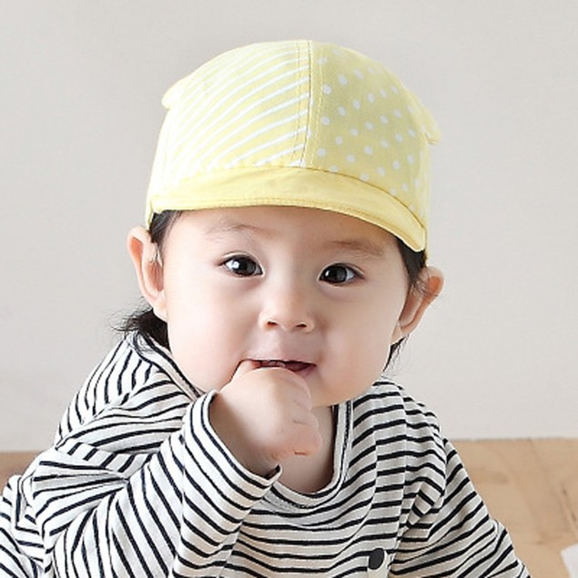 2b6712febbe ... Child Kid Baby Cats Striped Soft Brim Flanging Sun Hat Baseball Peaked  Cap