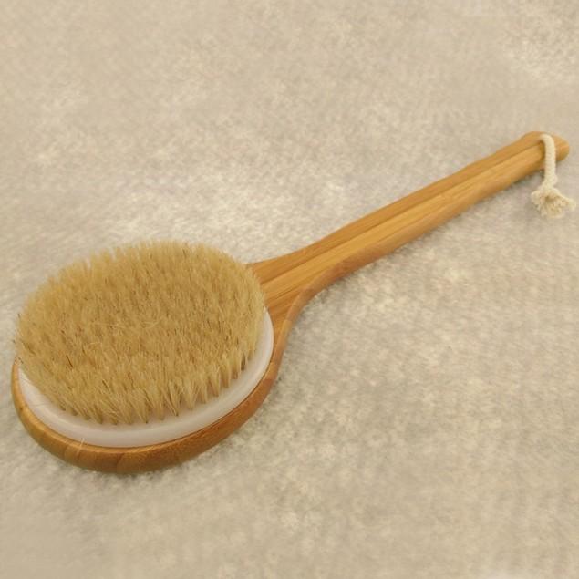 Wooden Handle Bath Shower Body Back Brush Spa Scrubber Exfoliating