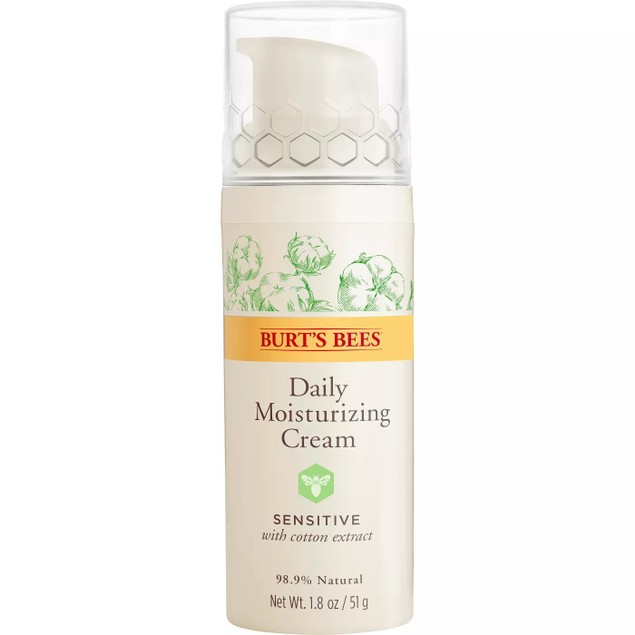 Burt's Bees Daily Face Moisturizer Cream for Sensitive Skin, 1.8 Oz.