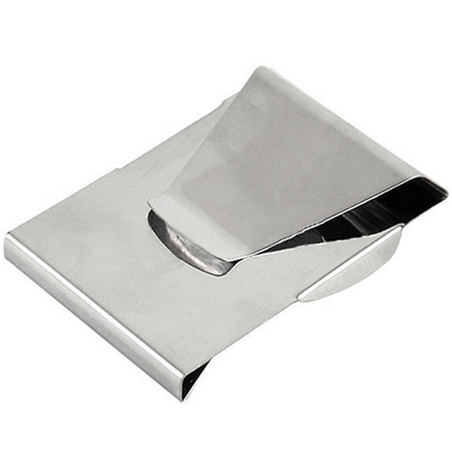 Stainless Steel ID Credit Card Wallet Double Sided Change Money Clip