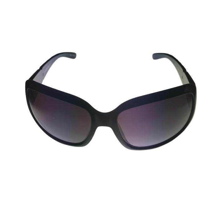 Ellen Tracy Womens Sunglass Black Plastic Rectangle, Gradient Lens 517 1