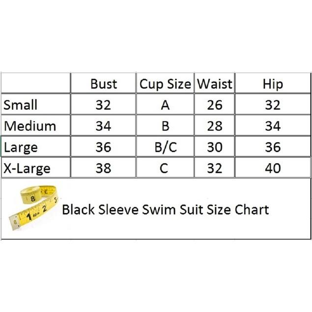Black Sleeve Swimsuit