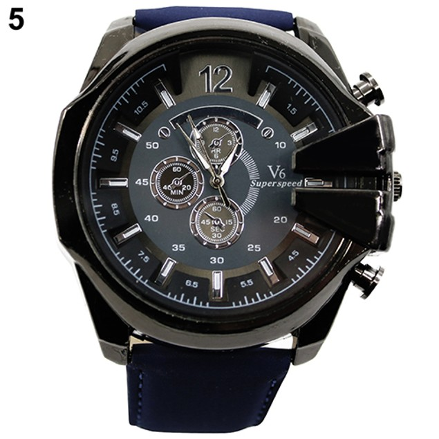 Men's Stainless Steel Quartz Watch - Assorted Colors