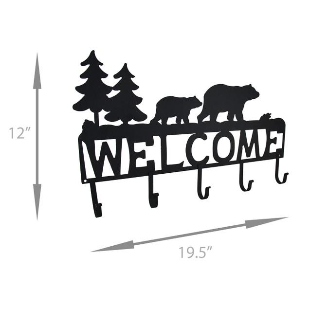 Rustic Black Bear Decorative Welcome Wall Hook Decorative Wall Hooks