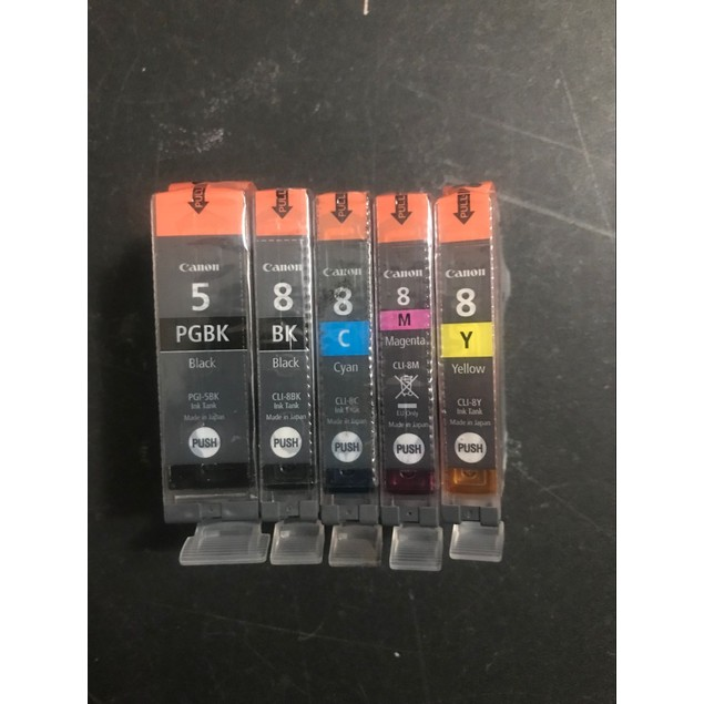 Canon 5 Pack of PGI 5 CLI 8 BK/C/M/Y Pixma Value Genuine Ink Cartridges