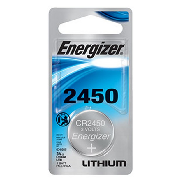 Energizer CR2450 Lithium Coin Cell Battery (1 Battery)