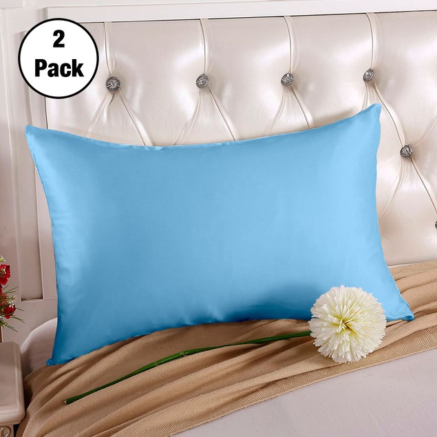 2-Pack Silk Pillowcases - 5 Colors