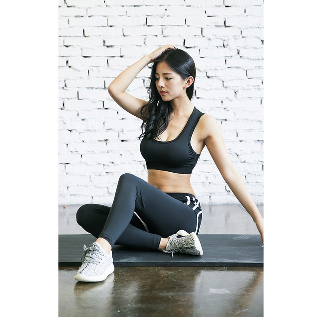 Odoland Women Racer back Sports Bras High Impact Workout Gym Activewear Bra