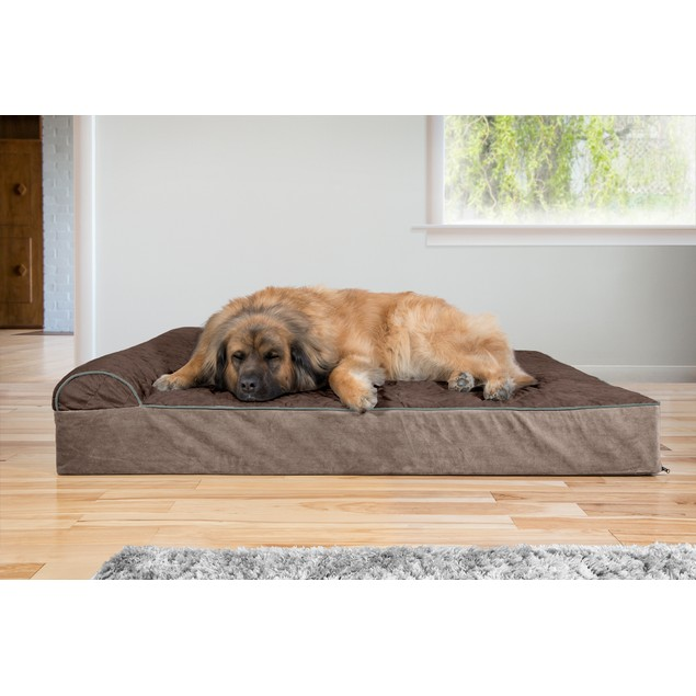 FurHaven Orthopedic Goliath Quilted Chaise Couch Pet Bed