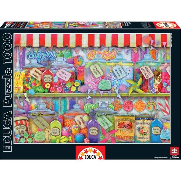 Candy Shop 1000 Piece Puzzle, Dessert by John N. Hansen