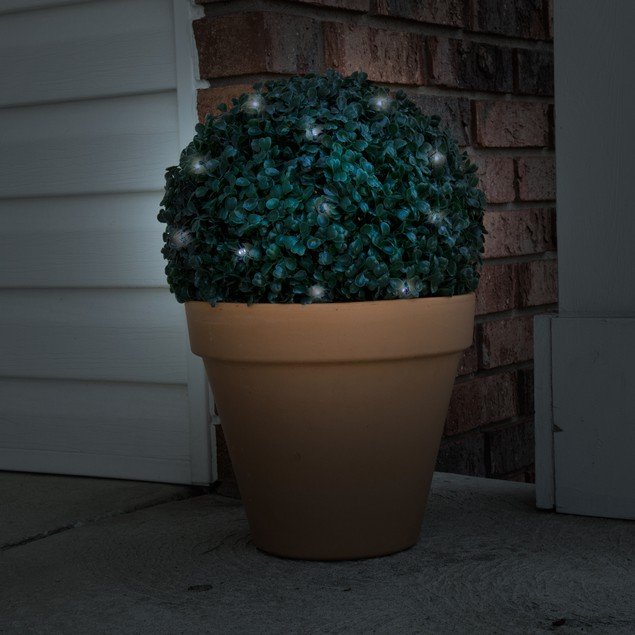 Pure Garden Topiary Solar Light Ball - 20 LED Lights - Watch The Video