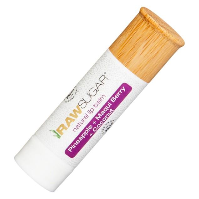 Raw Sugar Natural Lip Balm+Scrub Pineapple, Maqui, Berry & Coconut,  0.25