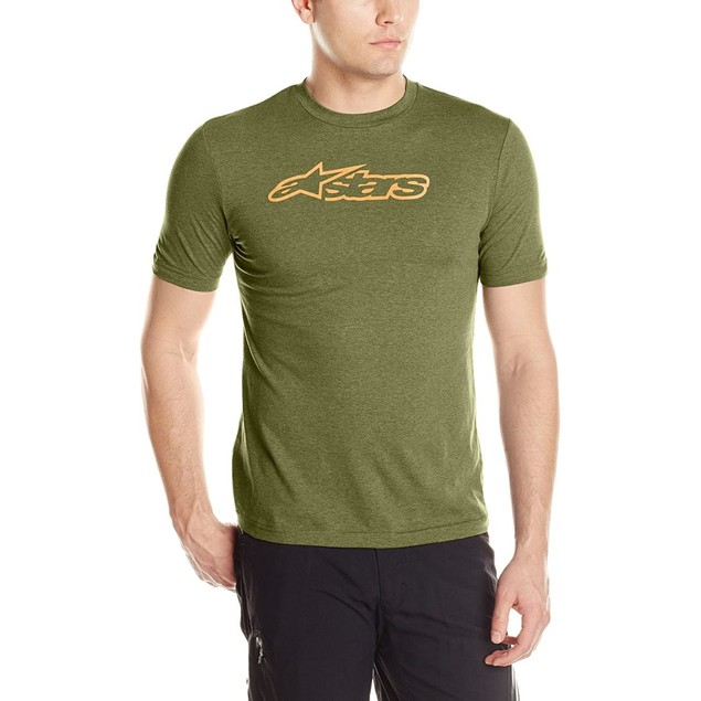 Alpinestars Men's Blaze 2 Tee, Medium, Military Green Melange Ochre