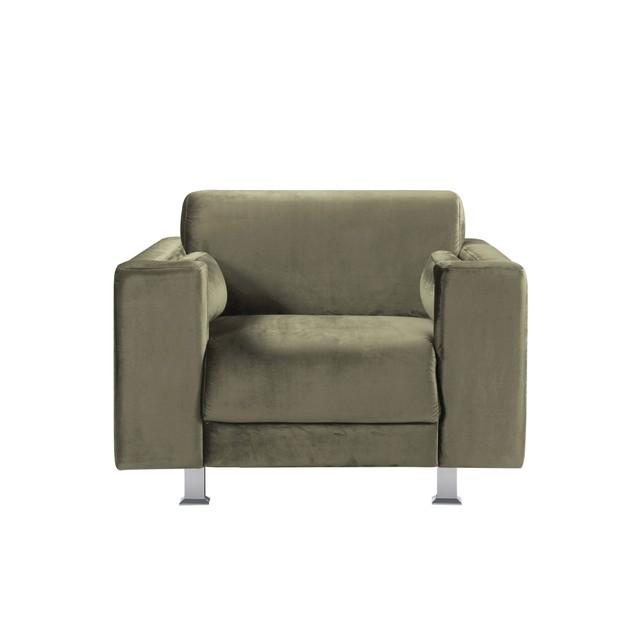 Chic Home Larry Velvet Plush Cushion Seat Chrome Legs Club Chair