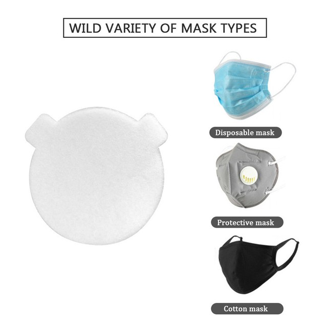 Mask Gasket Face Mask Filter Activated Carbon Breathing Filters 10/20/50PC