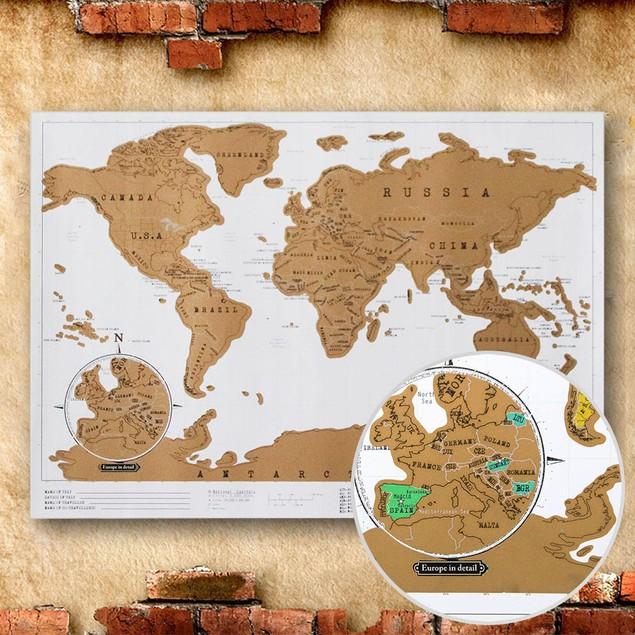 Gold Scratch Map