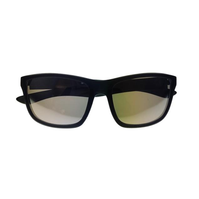 Skechers Mens Sunglass Matte Black Rectangle Wrap Plastic, SE8008 2C