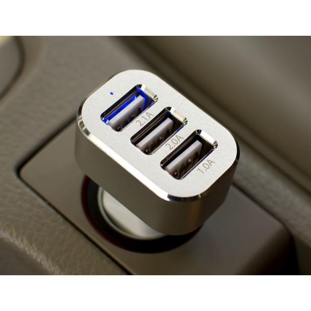 3-Port Universal USB Car Charger