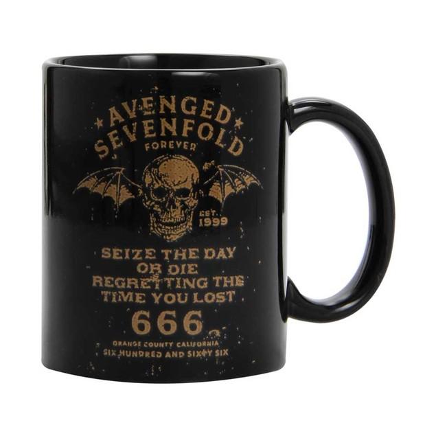 Avenged Sevenfold Seize The Day Coffee Mug Boxed Mug M. Shadows Black Boxed