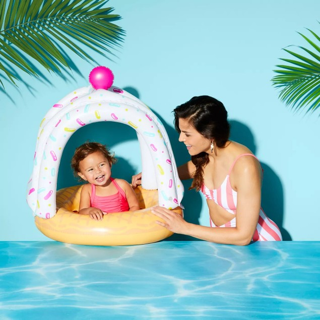 Sun Squad Ice Cream Cutie Sweet Treat Sundae Lil' Canopy Float For Kids,