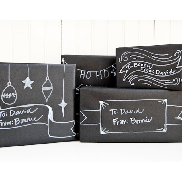 2-Piece 6-Foot Chalkboard and 6-Foot Whiteboard Wall Decal