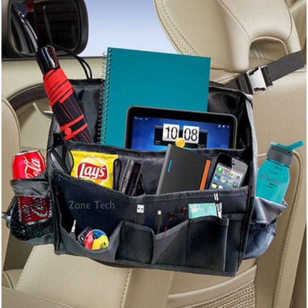 Zone Tech Compact Car Seat Driver Headrest Storage Bag