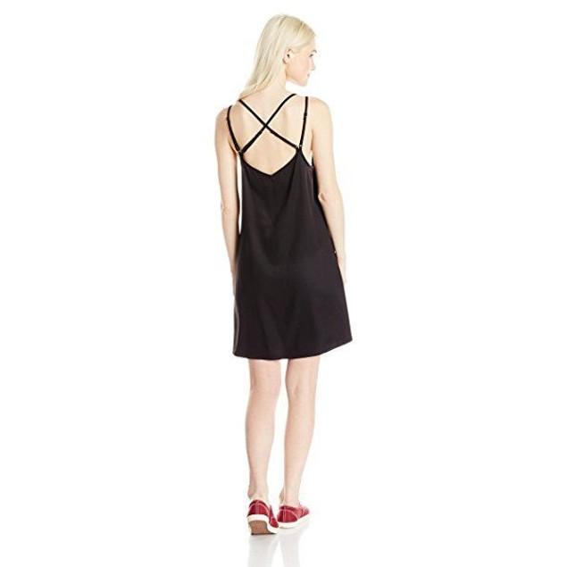 RVCA Junior's Naveena Strappy Tank Dress, Black, SIZE MEDIUM