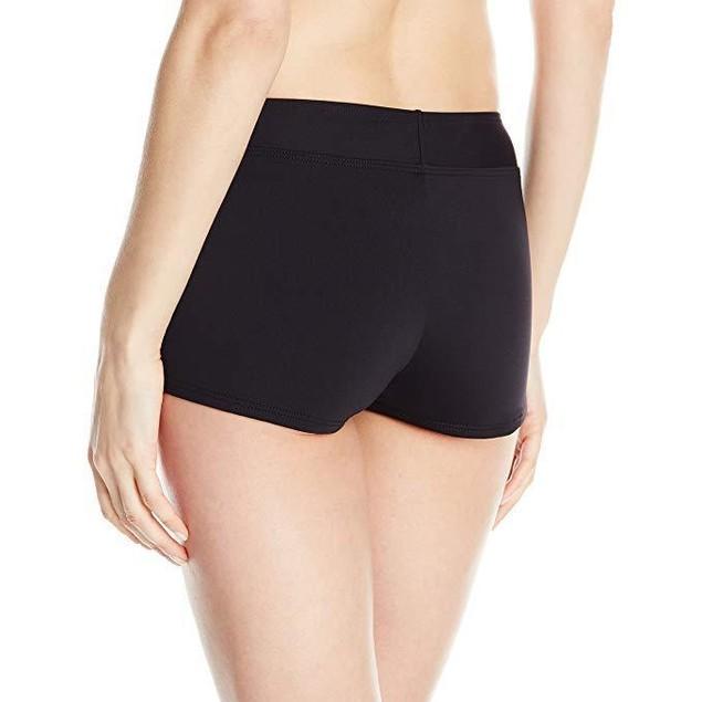 CARVE Designs Women's Isla Boy Short Bikini Bottom, Black, Sz:  Medium